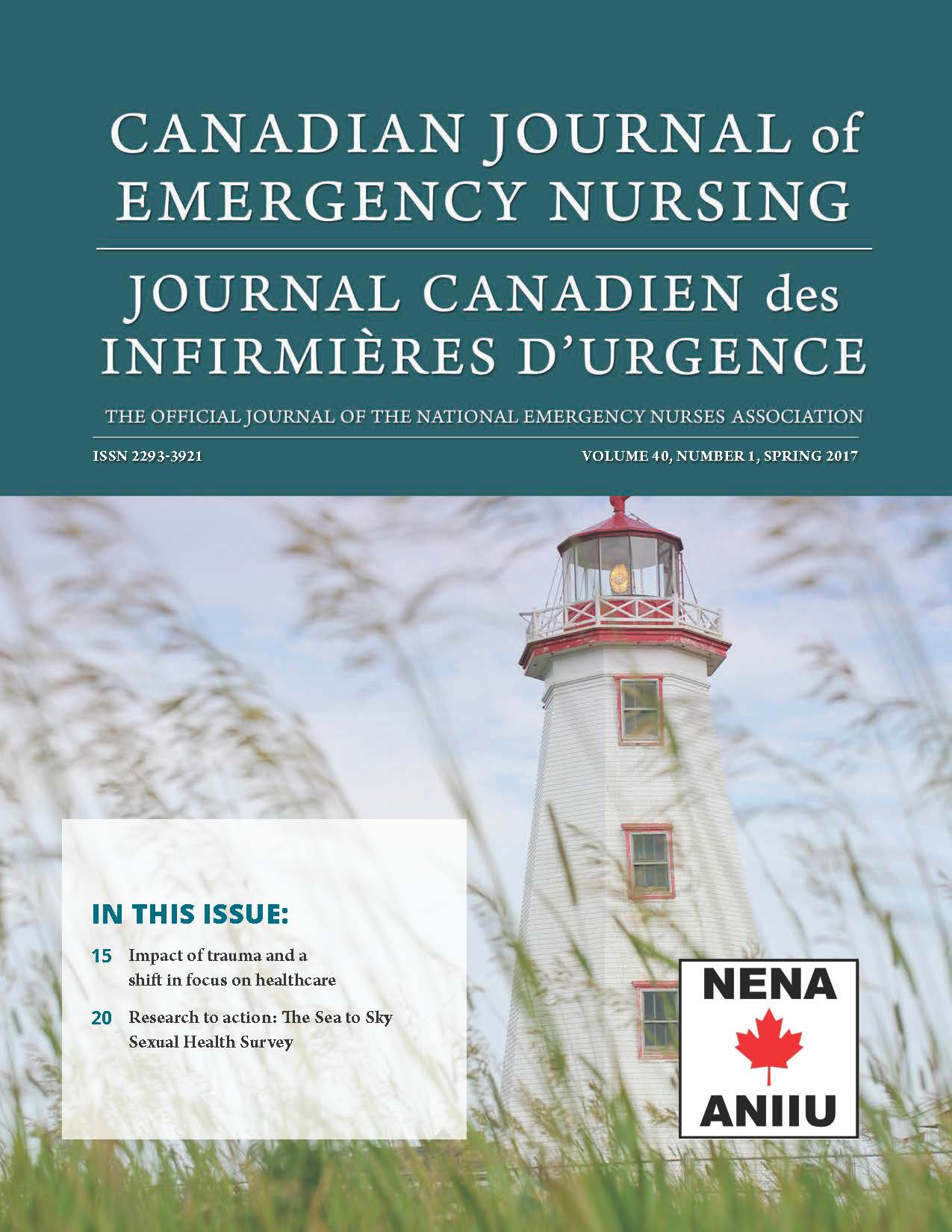 View Vol. 40 No. 1 (2017): Spring 2017: Canadian Journal of Emergency Nursing