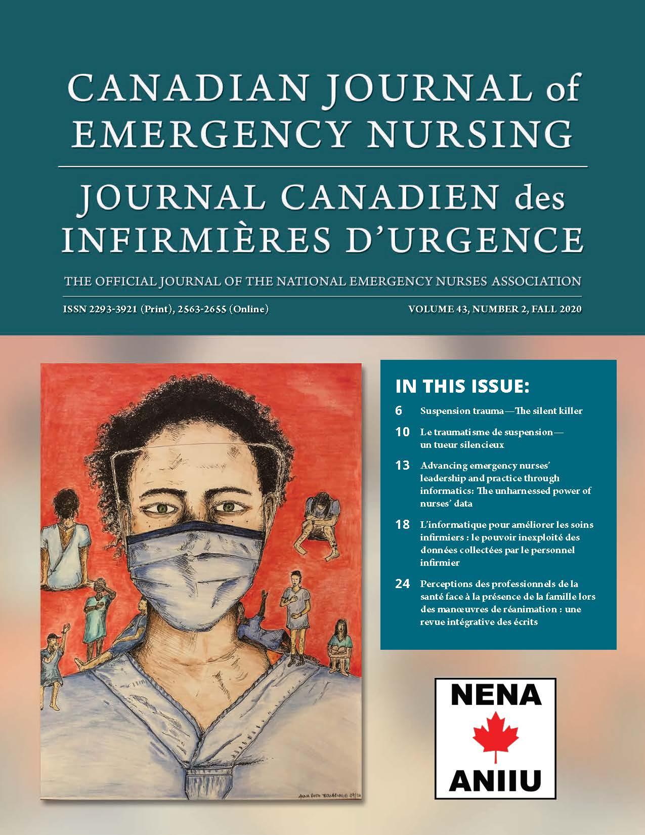View Vol. 43 No. 3 (2020): Fall 2020: Canadian Journal of Emergency Nursing