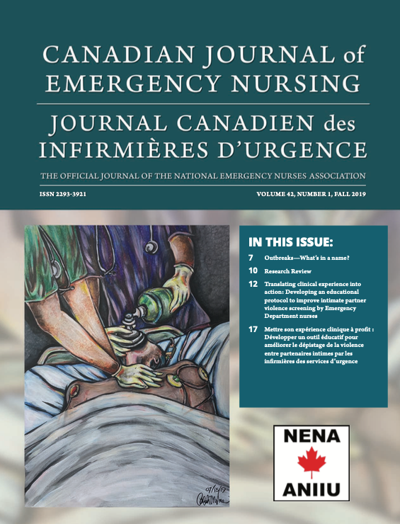 View Vol. 42 No. 1 (2019): Fall 2019: Canadian Journal of Emergency Nursing